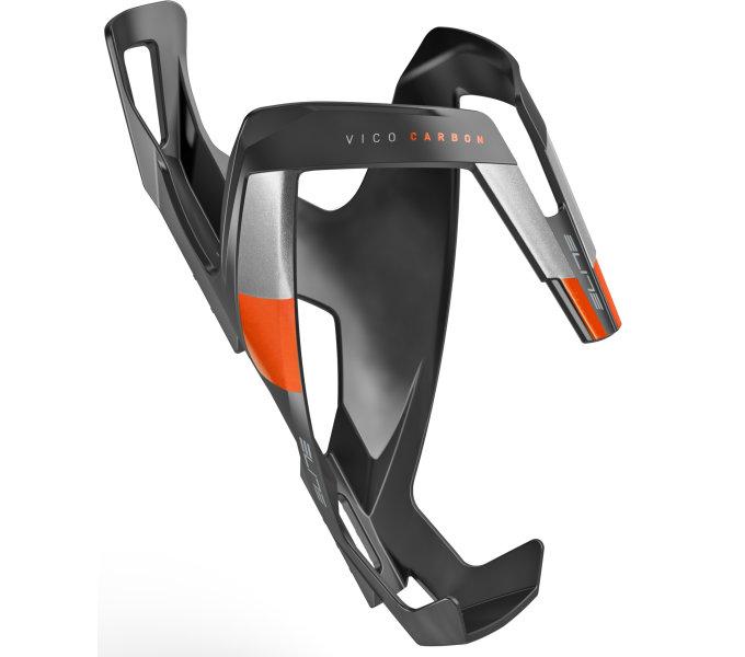 Elite košík VICO Carbon černý matný/oranžový