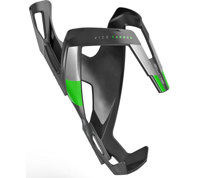 Elite košík VICO Carbon černý matný/zelený
