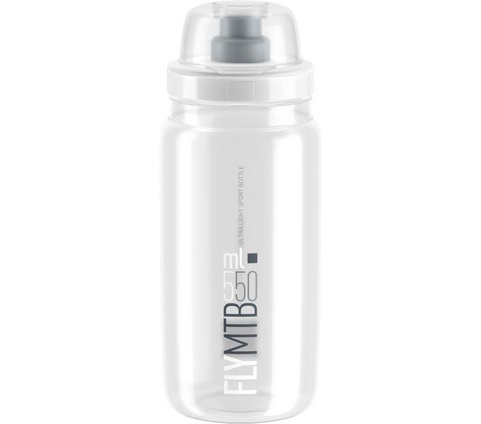 ELITE láhev FLY MTB čirá/šedé logo, 550 ml