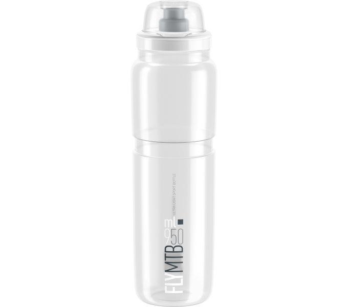 Elite láhev FLY MTB čirá/šedé logo, 950 ml