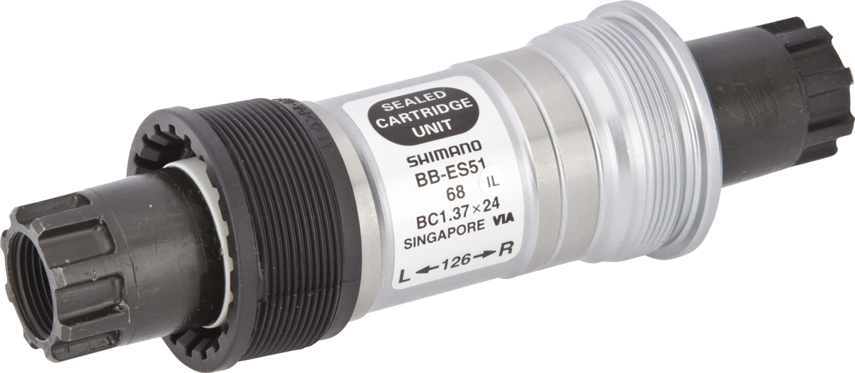 Shimano středové složení DEORE BB-ES51 osa octalink 68 mm 126 mm BSA
