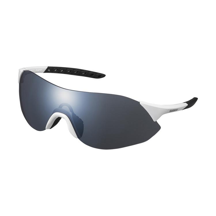 Shimano brýle CE-ARLS1MR, metalická bílá, skla kouřová stříbrná zrcadlová
