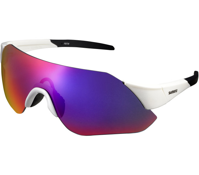 Shimano brýle CE-ARLT1ML, metalická bílá, skla kouřová červená zrcadlová