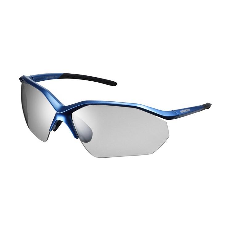SHIMANO brýle CE-EQNX3PH, metalická modrá, skla fotochromatická šedá