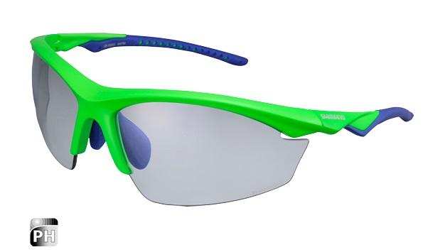 SHIMANO brýle EQX2 PH, fotochromatická skla, zelená/modrá