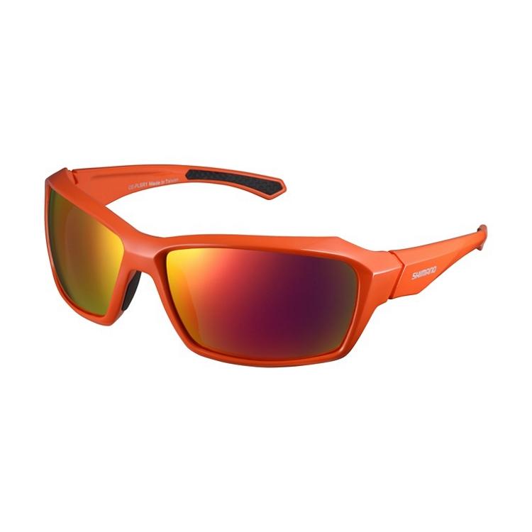 Shimano brýle CE-PLSR1ML, oranžová, skla kouřová červená zrcadlová