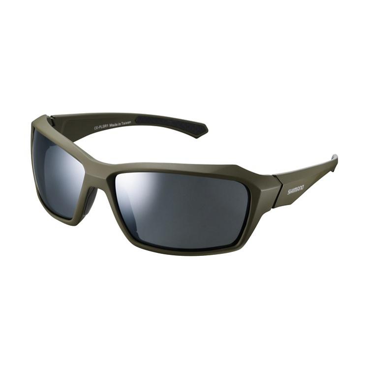 Shimano brýle CE-PLSR1MR, matná olivová, skla kouřová stříbrná zrcadlová
