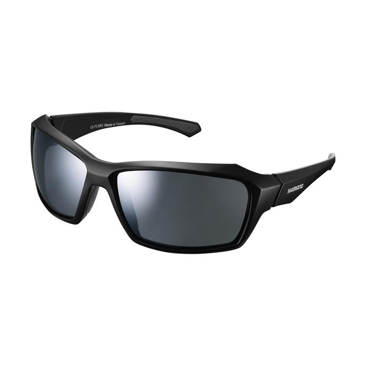SHIMANO brýle CE-PLSR1MR, matná černá, skla kouřová stříbrná zrcadlová
