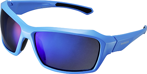 SHIMANO brýle S22X, modrá/černá, skla kouřová modrá zrcadlová