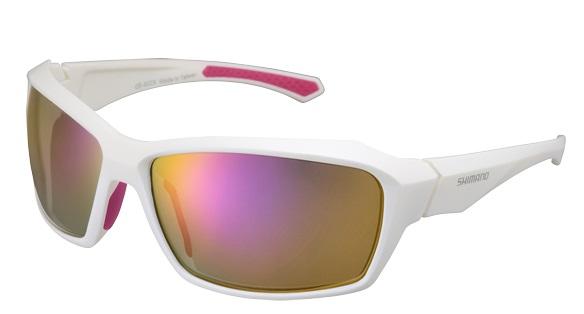 Shimano brýle S22X, bílá/Pink, skla kouřová červená