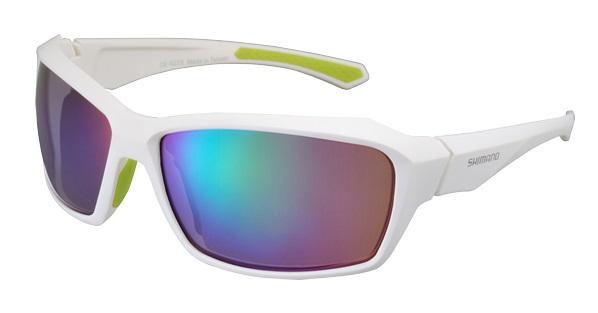 Shimano brýle S22X, bílá/zelená, skla zrcadlově zelená