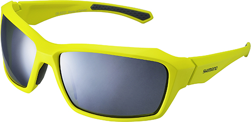 SHIMANO brýle S22X, Limežlutá/šedá, skla kouřová stříbrná zrcadlová