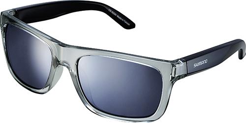 Shimano brýle S23X, šedá/černá, skla kouřová stříbrná zrcadlová