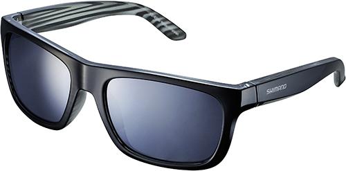 SHIMANO brýle S23X, černáLayečervená, skla kouřová stříbrná zrcadlová