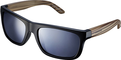SHIMANO brýle S23X, černá-woodpattern, skla kouřová stříbrná zrcadlová