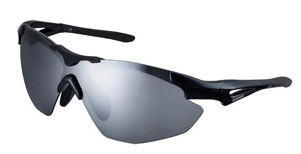SHIMANO brýle S40R, černá, skla kouřová stříbrná zrcadlová