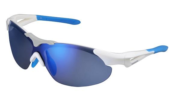 Shimano brýle S40RS-L, bílá/modrá, skla zrcadlově modrá