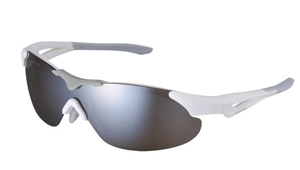 Shimano brýle S40RS, matná bílá, skla zrcadlově hnědá, čirá