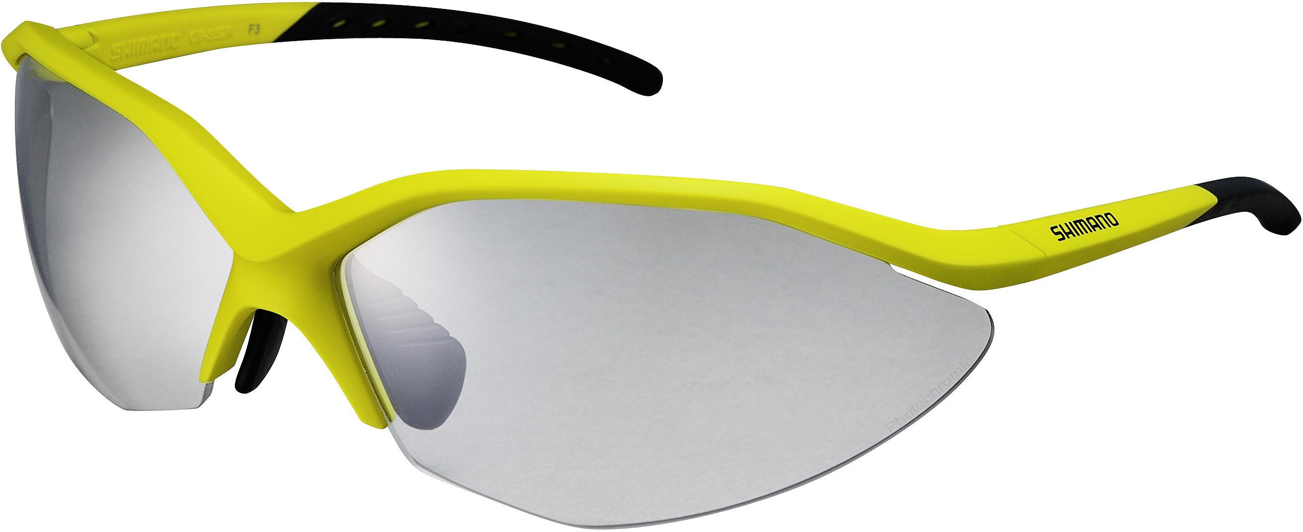 SHIMANO brýle S52R, Limežlutá/černá, skla fotochromatická šedá
