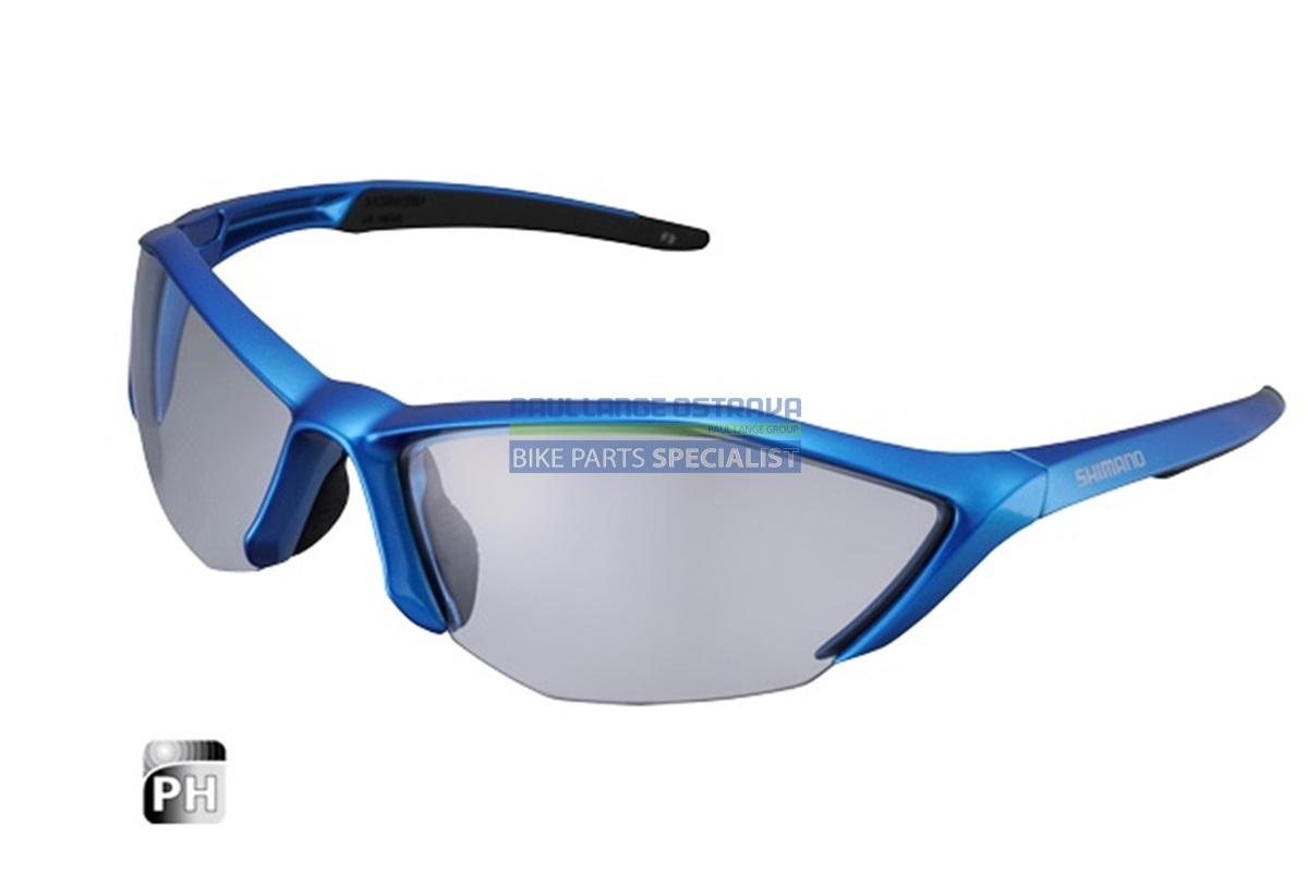 SHIMANO brýle S61R-PH, modrá/černá, skla fotochromatická šedá