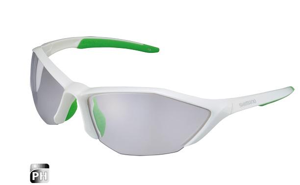 SHIMANO brýle S61R PH, fotochromatická skla, bílá/zelená