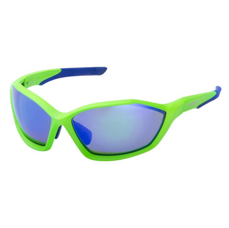 SHIMANO brýle S71X, polarizovaná skla, neónová zelená/modrá