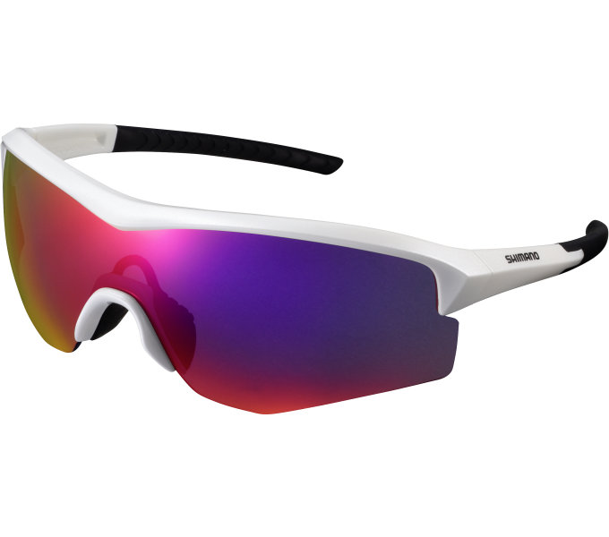 SHIMANO brýle CE-SPRK1ML, metalická bílá, skla kouřová červená zrcadlová