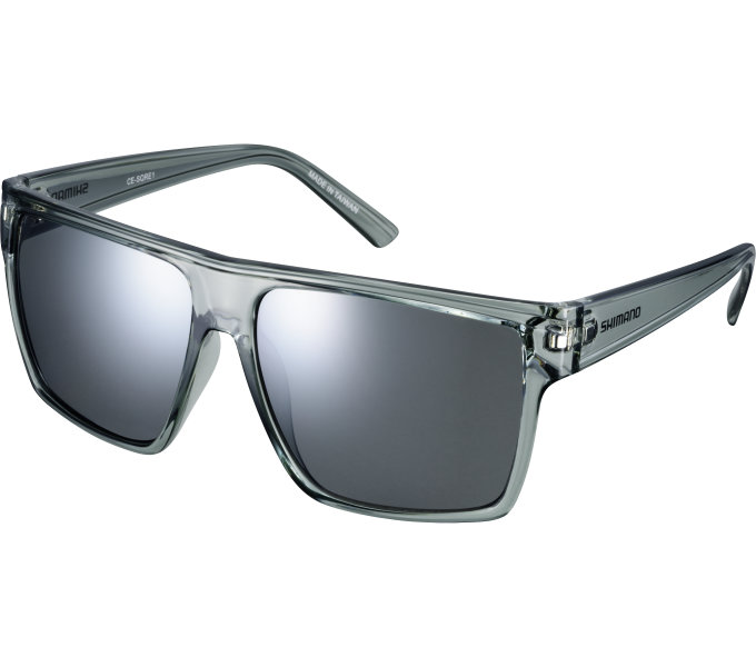 Shimano brýle CE-SQRE1MR, průsvitně šedá, skla kouřová stříbrná zrcadlová