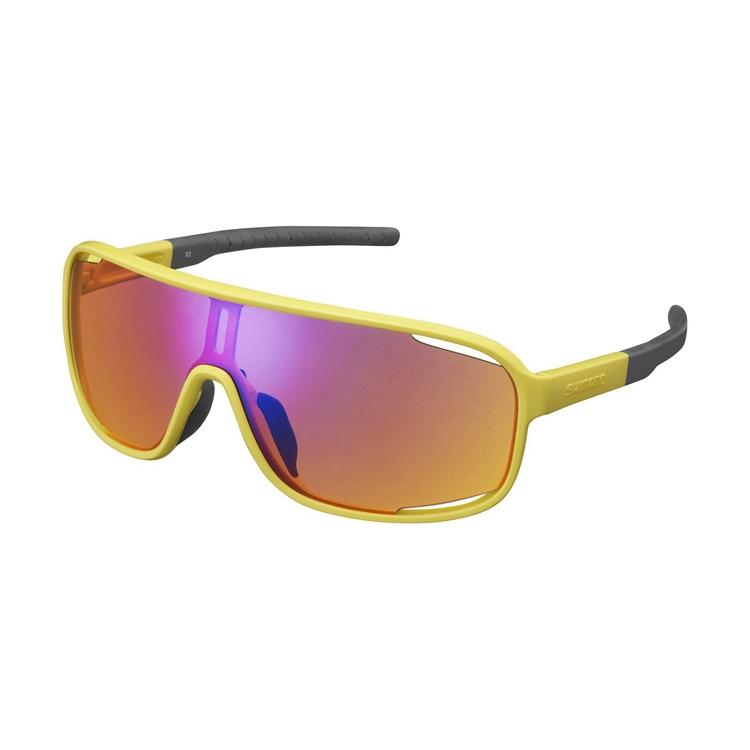 SHIMANO brýle CE-TCNM1MR, mustard žlutá, skla oranžovo-modrá zrcadlová