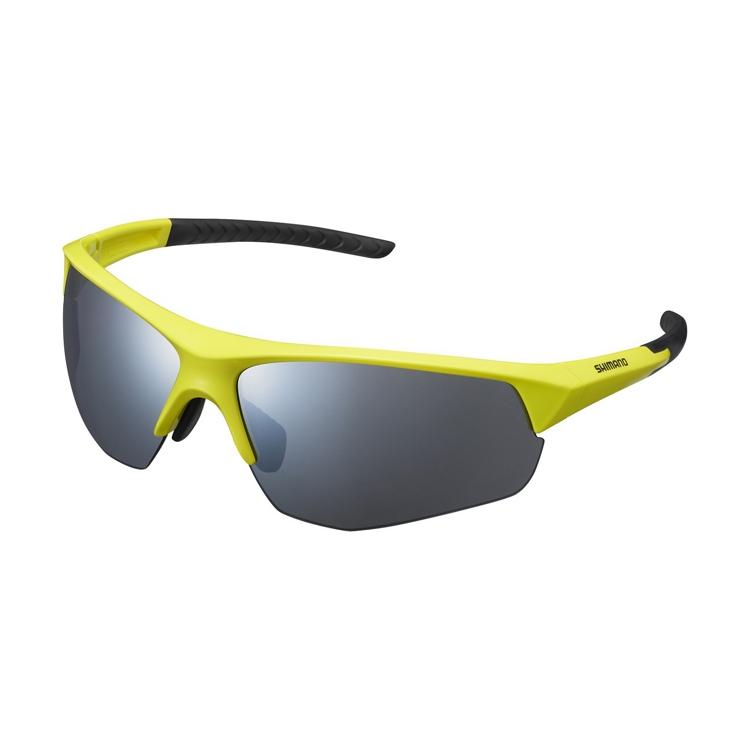 Shimano brýle CE-TSPK1MR, limetkově žlutá, skla kouřová stříbrná zrcadlová
