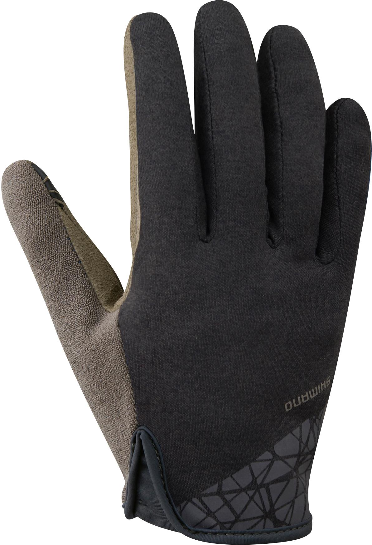 Shimano TRANSIT LONG rukavice, černá, M