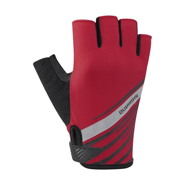 SHIMANO rukavice, červené, M