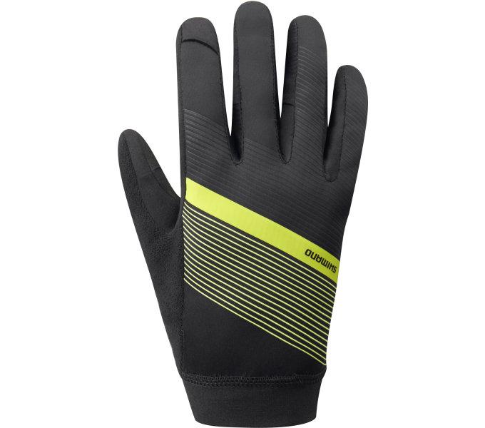 SHIMANO WIND CONTROL rukavice, neonově žlutá, L