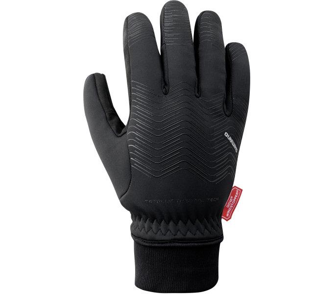 SHIMANO WINDSTOPPER THERMAL reflexní rukavice, černá, M
