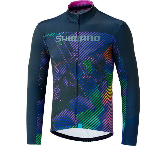 SHIMANO TEAM LS dres, fialový, M