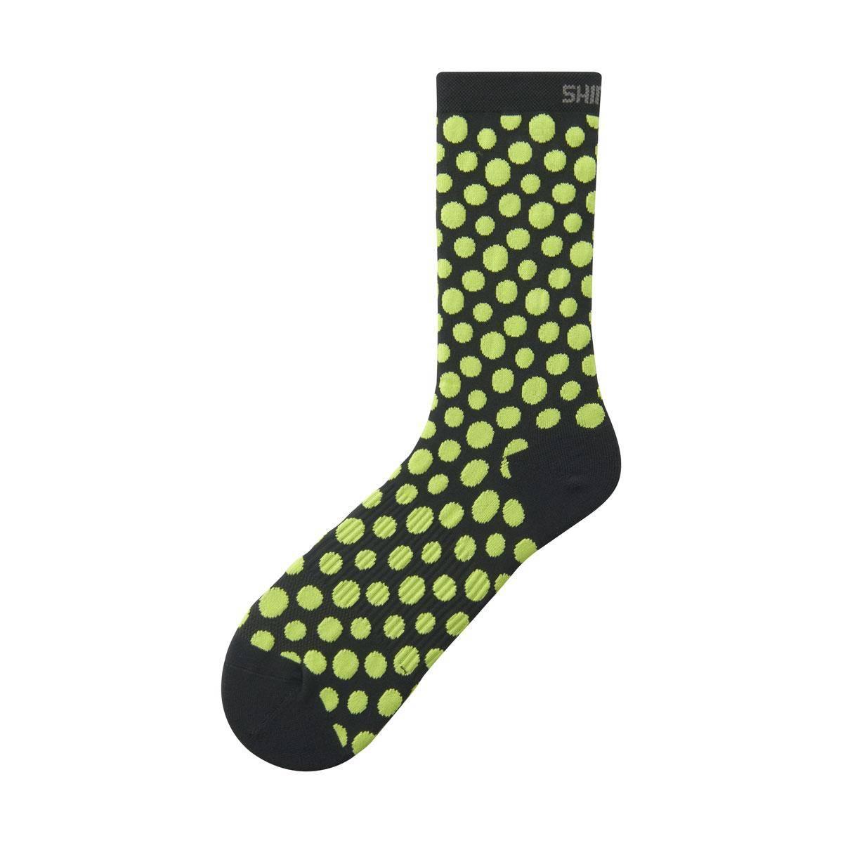 Shimano ORIGINAL TALL ponožky, černá/limetkově žlutá, M-L (41-44)
