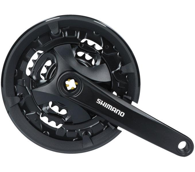 Shimano kliky ALTUS FC-MT101 4hran 3x9 175 mm 44x32x22z černé vč.šroubu s krytem bal