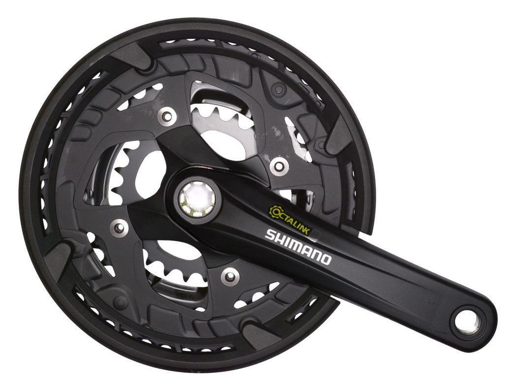 Shimano kliky ALIVIO FC-T4010-T oktalink 3x9 175 mm 48x36x26z s krytem černé