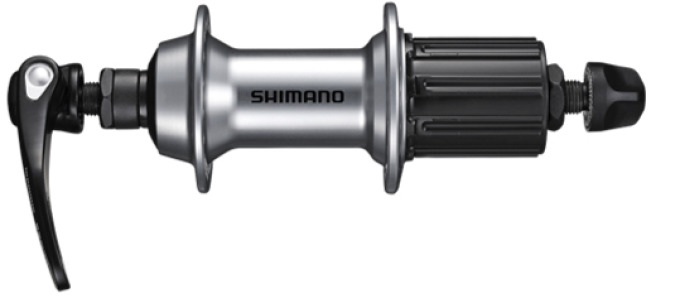 Shimano nába zadní TIAGRA FH-RS400 pro ráfkovou brzdu 10/11 rychl 36 děr RU: 168 mm stříbrná