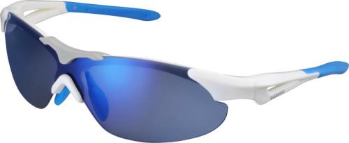 Shimano brýle S40RS, bílá/modrá, skla zrcadlově modrá