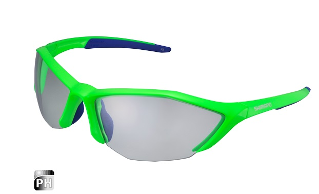 SHIMANO brýle S61R PH, fotochromatická skla, zelená/modrá