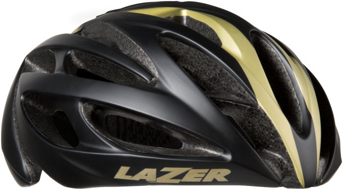 LAZER přilba silniční O2 černá zlatá S 52-56 cm