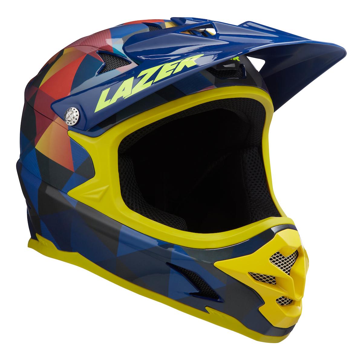 LAZER přilba Phoenix+ CE/ žluto modrá TRIANGLES M