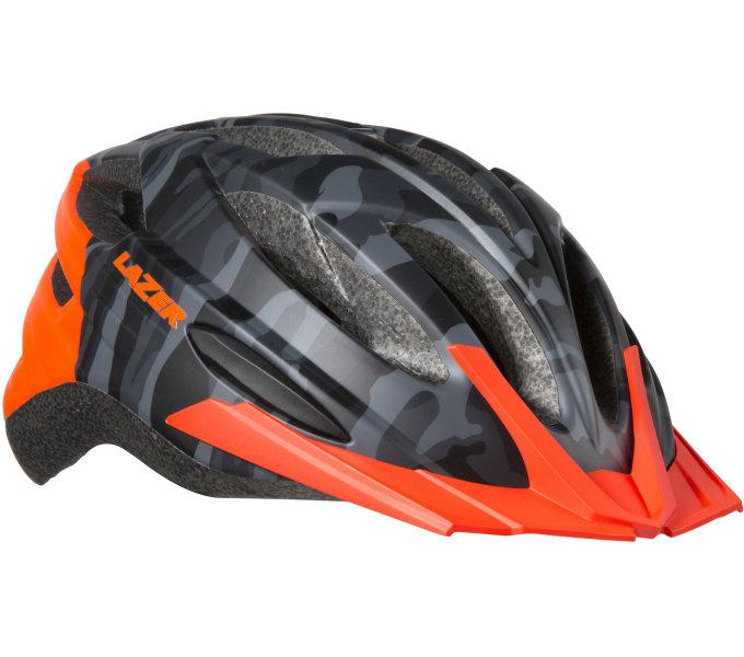 LAZER přilba Vandal CE/ matná černá camo oranžová M-L+net