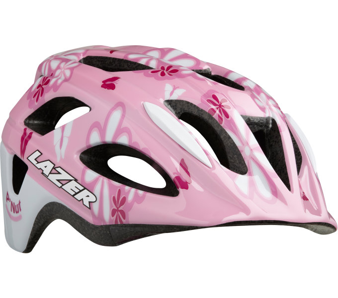 LAZER přilba P'nut CE/ růžová flowers + net