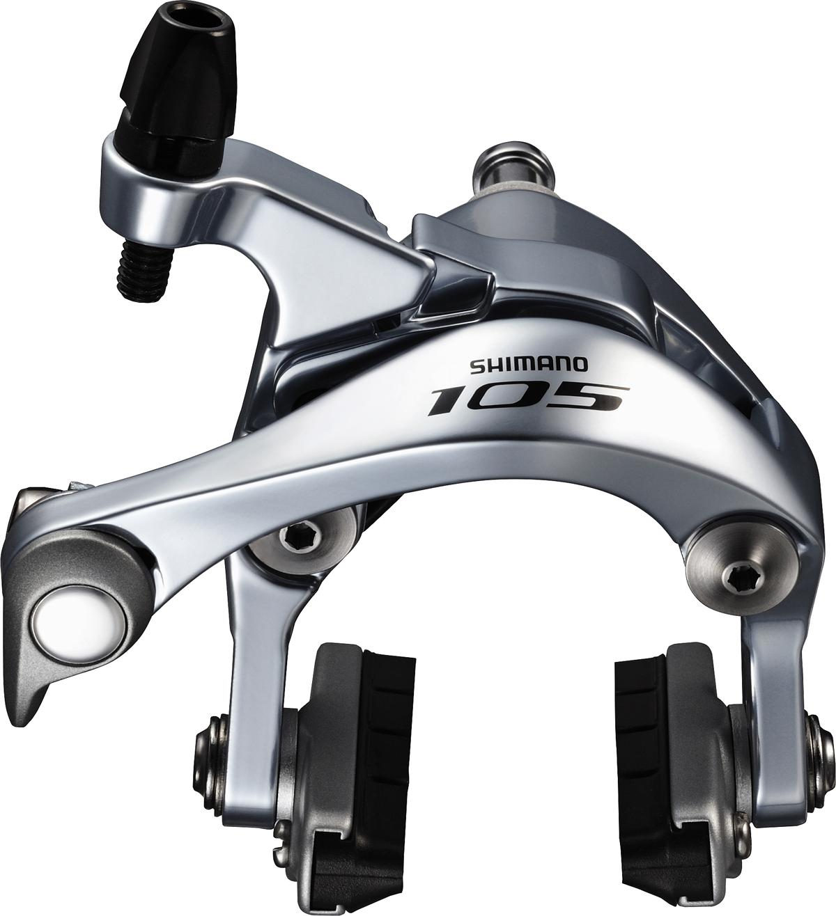 Shimano brzda 105 BR-5800 silniční přední R55C4 stříbrná šr:10,5/12,5/18/27/32 mm bal
