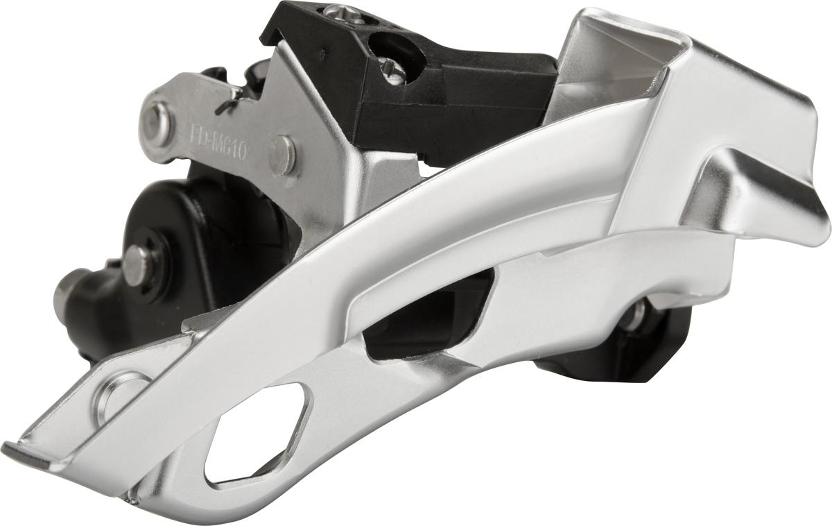 Shimano přesmykač DEORE FD-M610 MTB pro 3x10 obj. 34,9/31,8 + 28,6 Top-swing dual pull 40/42z čer