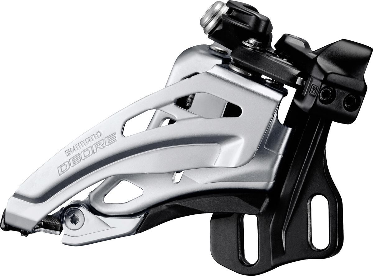 Shimano přesmykač DEORE FD-M617 MTB pro 2x10 př mont E-typ bez BB Side-swing front pull 36/38 z čer