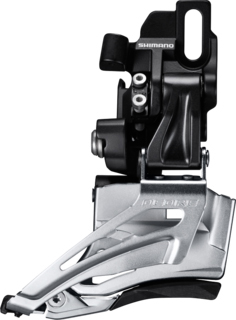 Shimano přesmykač DEORE FD-M618 MTB pro 2x10 př mont D-typ Down-swing dual pull 36/38 z čer