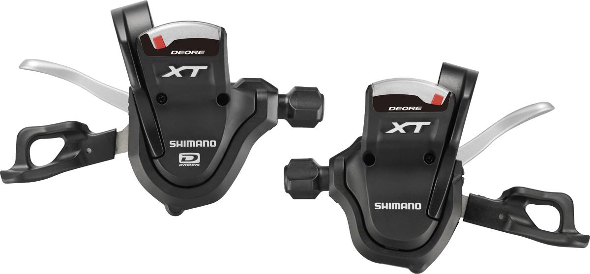 SHIMANO řadící páčka XT SL-M780 pár 2/3 rychl + 10 rychl objímka s ukaz bal